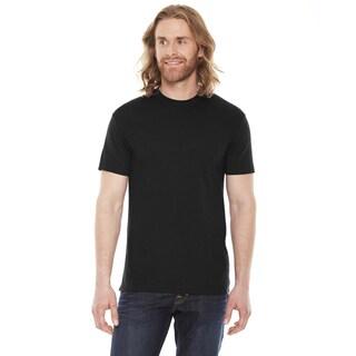 American Apparel Unisex 50/50 Black Short Sleeve T-Shirt