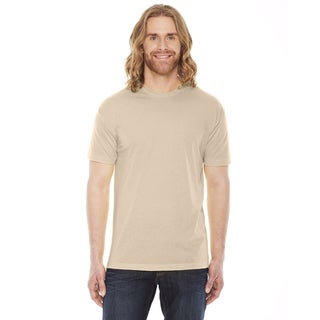 American Apparel Unisex Creme Polyester and Cotton 50/50 Short-sleeve T-shirt