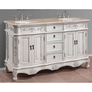 Alexandra Cream Marble 60-inch Double Vanity