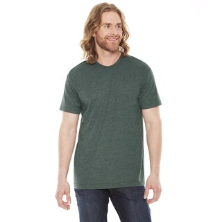 American Apparel Unisex 50/50 Heather Forest Green Polyester and Cotton Short-sleeve T-shirt (More options available)