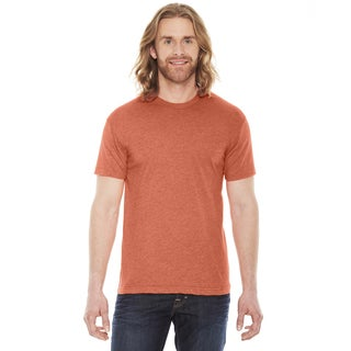 American Apparel Unisex Heather Orange Cotton/Polyester Short -sleeve T-shirt