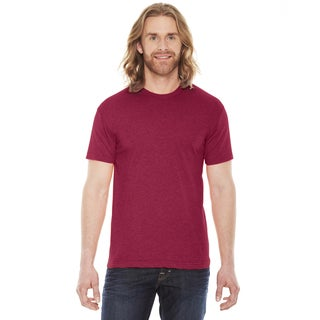 American Apparel Unisex Heather Red Polyester/Cotton 50/50 Short Sleeve T-shirt