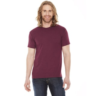 American Apparel Unisex 50/50 Heather Cranberry Cotton and Polyester Short-sleeve T-shirt
