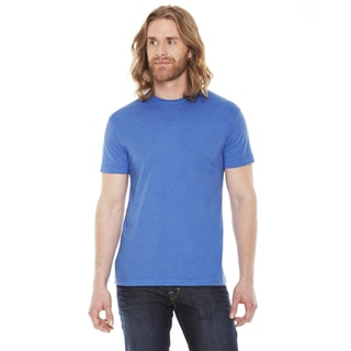 American Apparel Unisex Blue Cotton and Polyester Short-sleeve Crewneck T-shirt