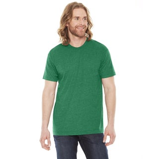 American Apparel Unisex Heather Vint Green Cotton/Polyester 50/50 Short Sleeve T-shirt