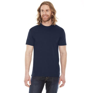 American Apparel Unisex Navy Cotton/Polyester 50/50 Short Sleeve T-shirt