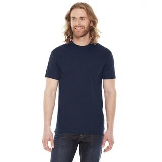 American Apparel Unisex Navy Cotton/Polyester 50/50 Short Sleeve T-shirt
