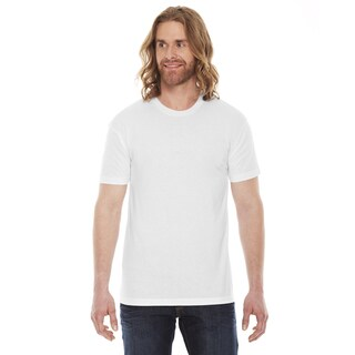 American Apparel Unisex 50/50 White Cotton and Polyester Short-sleeve T-shirt