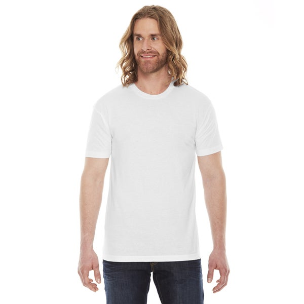 7f33dea5297f Shop American Apparel Unisex 50/50 White Cotton and Polyester Short-sleeve T -shirt - On Sale - Free Shipping On Orders Over $45 - Overstock - 12105447