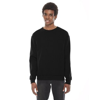 American Apparel Unisex Flex Black Fleece Drop Shoulder Crewneck Pullover