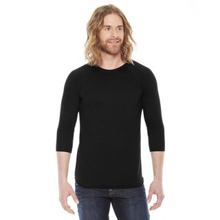 American Apparel Unisex Baseball Black Poly/ Cotton Raglan T-shirt