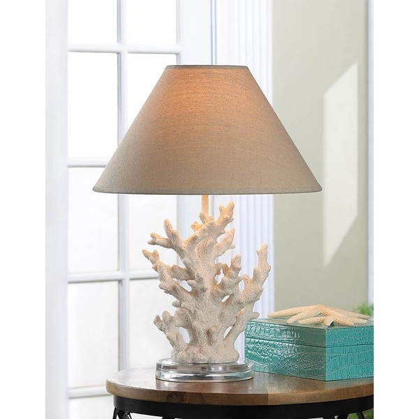 Cypress Coral Sculpture Round Table Lamp
