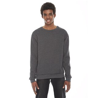 American Apparel Unisex Grey Cotton/Polyester Long-sleeved Pullover Crewneck