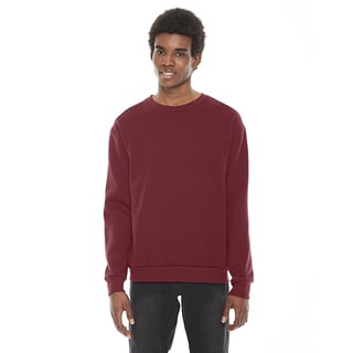 American Apparel Unisex Flex Cranberry Fleece Drop Shoulder Crewneck Pullover
