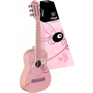 Stagg C505 Dragonfly Graphic Pink Wood 1/4-Size Classical Guitar