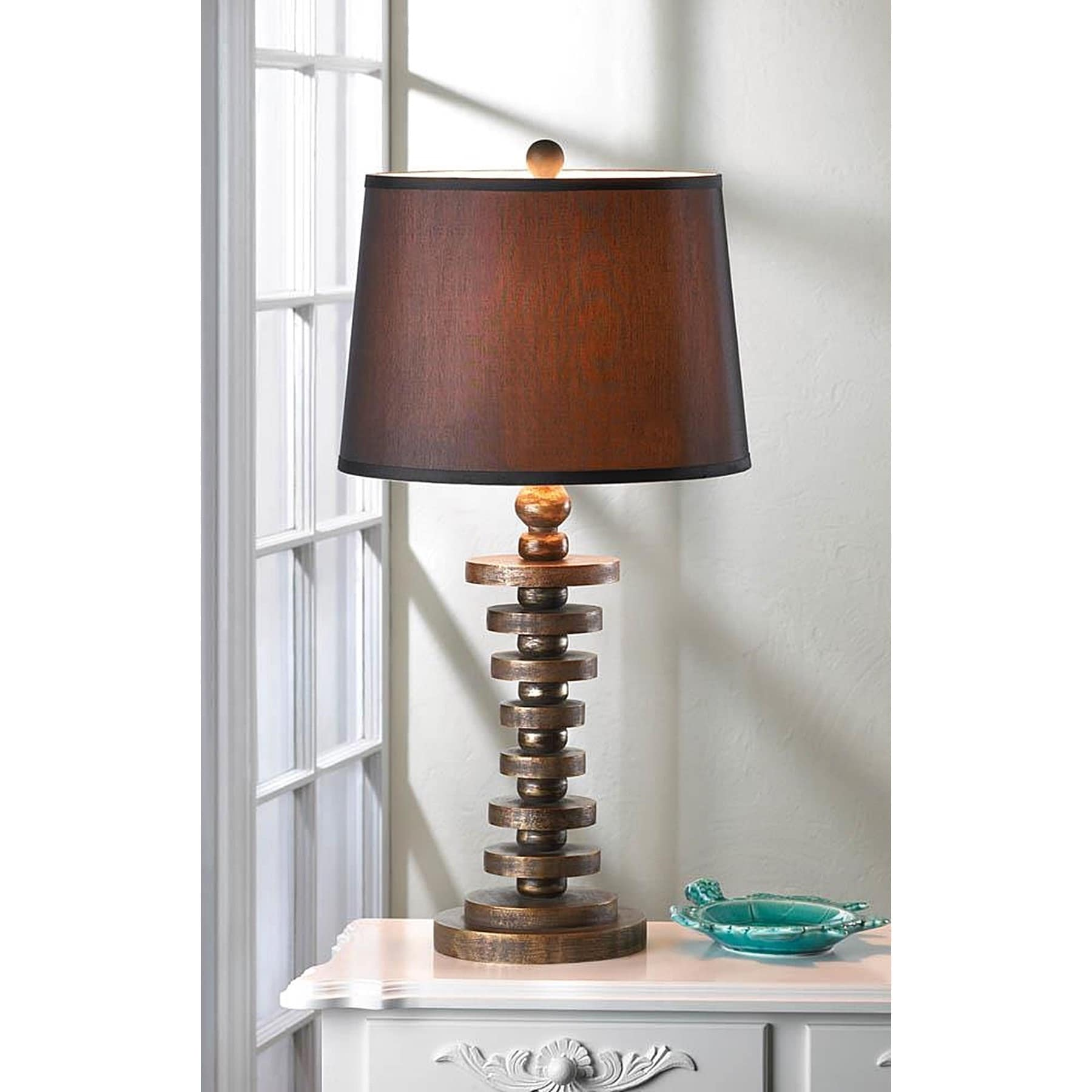 Bedford Modern Table Lamp, Brown (Fabric)