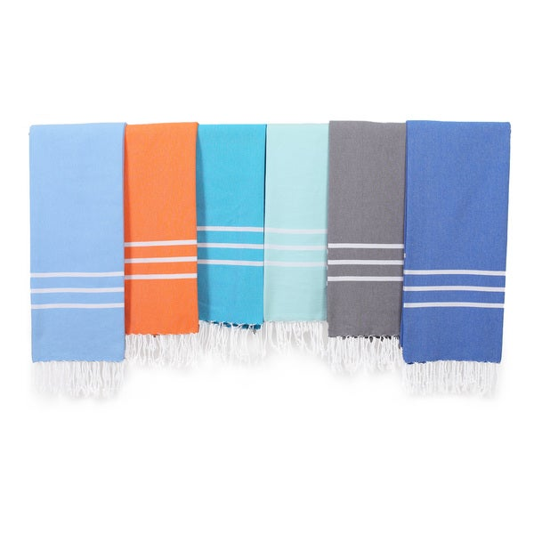Authentic Ella Pestemal Fouta Turkish Cotton Hand/Kitchen Towel (Set of 2)