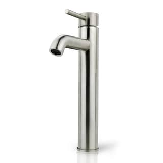 iSpring Bathroom Faucet Brushed Nickel Vessel Sink Single Handle/One Hole Lavatory Faucet - Silver