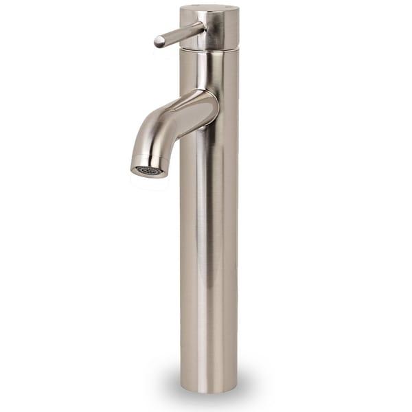 iSpring Euro Tall Brushed nickel Bathroom Lavatory Vanity