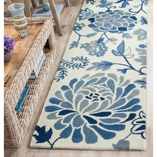 Safavieh Handmade Martha Stewart Collection Azurite Wool Rug (2' 3 x 10')