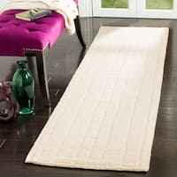 Martha Stewart by Safavieh Freehand Stripe Fossil Wool Rug - 2' 3 x 8'