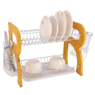Euro-Home Natural Wooden 2-tier Dish Rack