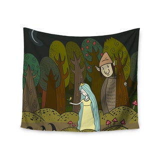 Kess InHouse Petit Griffin 'Enchanted Forest' 51x60-inch Wall Tapestry