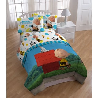 Peanuts Sunny Day Twin-size 5-piece Bedding Collection with Pillow Buddy
