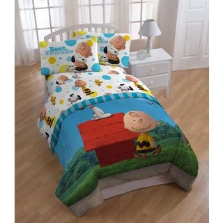 Peanuts Sunny Day Twin 5-piece Bed in a Bag Set