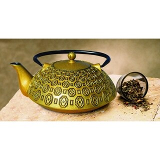 Old Dutch Unity Ritchi Black/Gold Metal Teapot