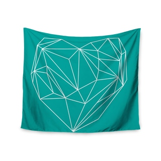 Kess InHouse Mareike Boehmer 'Heart Graphic Turquoise' 51x60-inch Wall Tapestry