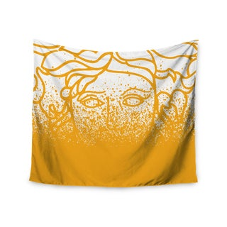 Kess InHouse Just L 'Versus Spray Gold' 51x60-inch Wall Tapestry