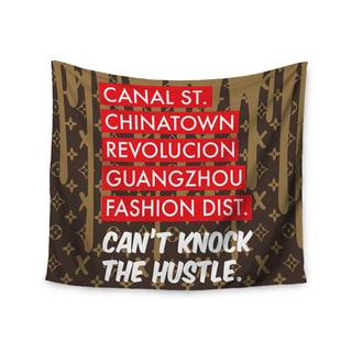 Kess InHouse Just L ' Can't Knock The Hustle Brn' 51x60-inch Wall Tapestry
