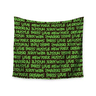 Kess InHouse Just L 'Lux Writing Grn Brn' 51x60-inch Wall Tapestry