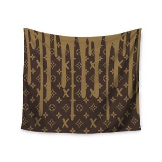Kess InHouse Just L 'LX Drip BRN' 51x60-inch Wall Tapestry