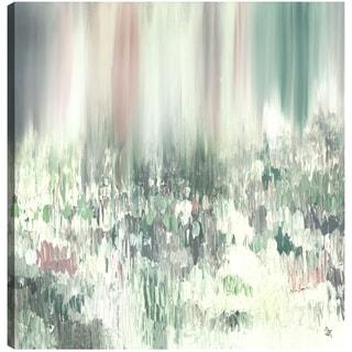 Hobbitholeco. Sanjay Patel, Green Wood, Abstract, Gel Brush Finish Canvas Wall Art Decor, Gallery Wrapped 36X36
