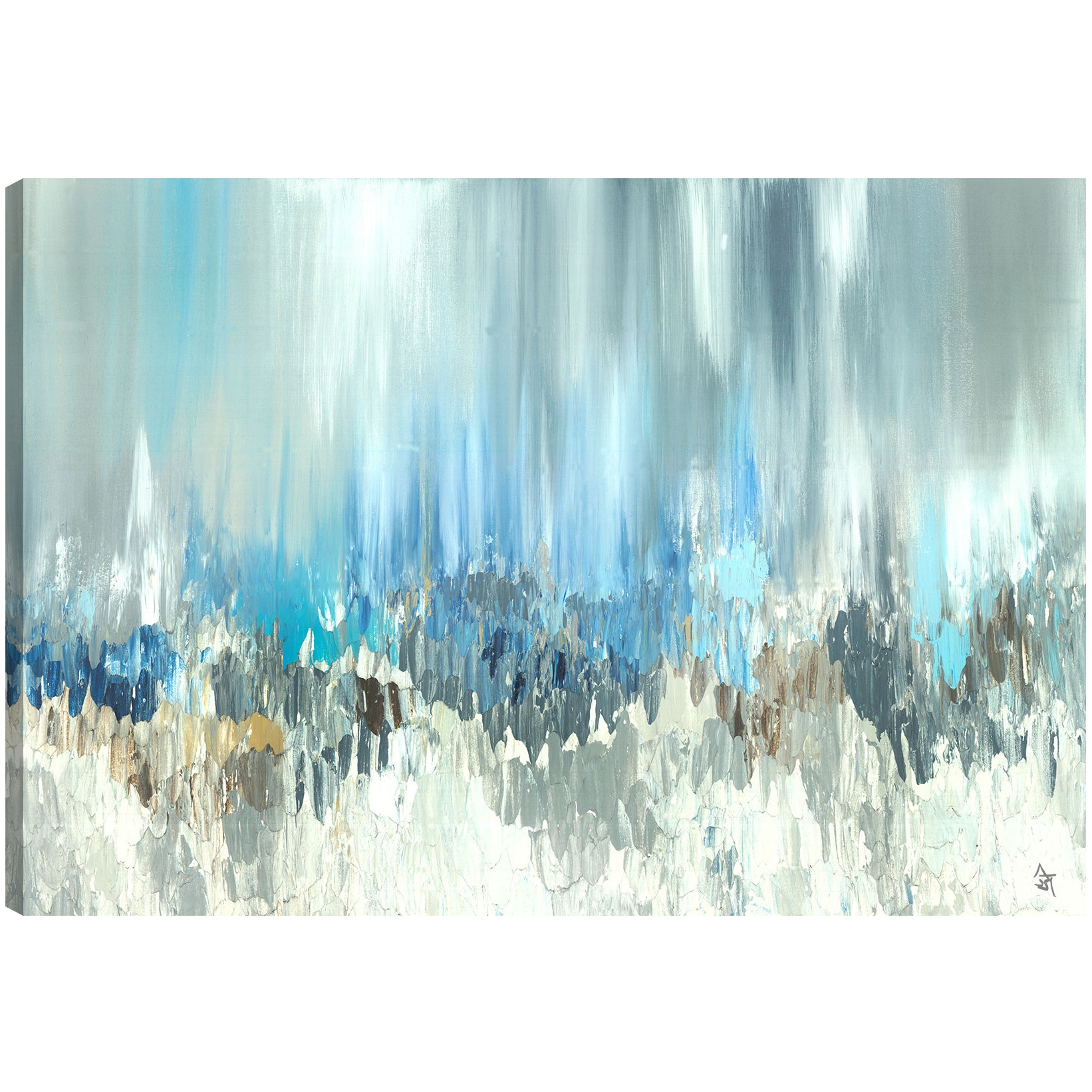 Artmaison Canada Sanjay Patel Blue Visuals Abstract Canvas Print Canvas Wall Art Decor Gallery Wrapped 30x40