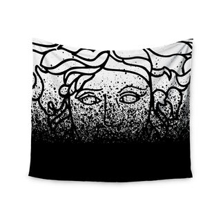 Kess InHouse Just L 'Versus Spray Blk' 51x60-inch Wall Tapestry