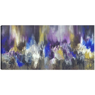 Hobbitholeco. Sanjay Patel, Exotic Purple, Abstract, Gel Brush Finish Canvas Wall Art Decor, Gallery Wrapped 30X60