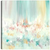 Hobbitholeco. Sanjay Patel, Pleasant Feel, Abstract, Gel Brush Finish Canvas Wall Art Decor, Gallery Wrapped 36X36