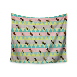Kess InHouse Louise Machado 'Little Bee' 51x60-inch Wall Tapestry