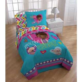 Disney Doc McStuffins Caring Twin-size Bed in a Bag with Sheet Set