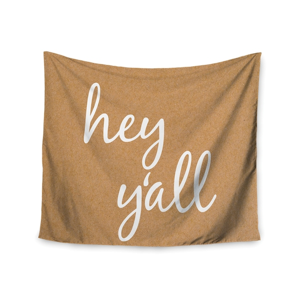 Kess InHouse KESS InHouse 'Hey Y'all - White' 51x60-inch Wall Tapestry