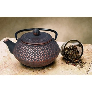 Amai Black/Copper Cast Iron 23-ounce Teapot