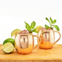 Old Dutch S/2 Hammered Solid Copper 16-ounce Moscow Mule Mug