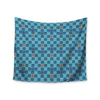 Kess InHouse Jane Smith 'Vintage Checkerboard' 51x60-inch Wall Tapestry