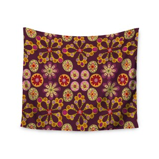 Kess InHouse Jane Smith 'Indian Jewelry Floral' 51x60-inch Wall Tapestry
