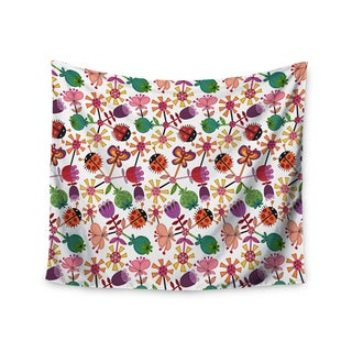 Kess InHouse Jane Smith 'Garden Floral' 51x60-inch Wall Tapestry