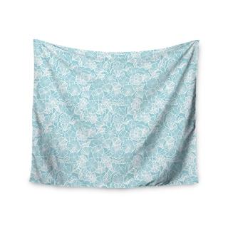 Kess InHouse Jacqueline Milton 'Vine Shadow - Aqua' 51x60-inch Wall Tapestry