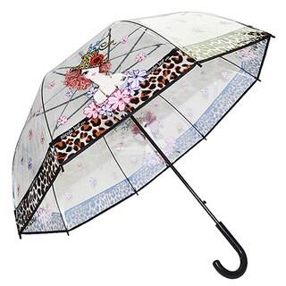 Nicole Lee Sunny Print Clear Umbrella